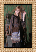 Betty's Brown Silk Blouse