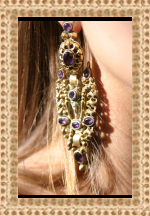 Pirate Treasure Amethyst and VermeilLong Spanish Earrings C.1750
