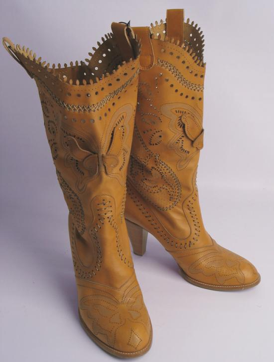 Anna Sui Butterfly Cowgirl Boots