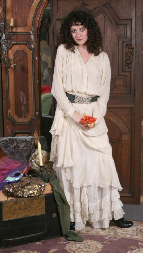 Gypsy Moon: The Attic Collection-Edwardian Ivory Blouse