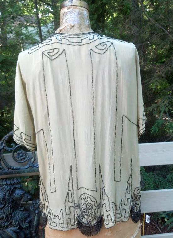 Antique Cut Steel Beaded Blouse