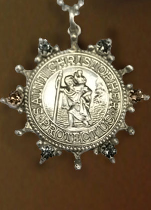 St. Christopher Star Pendant